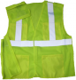5-Point Break Away ANSI Class 2 Lime Mesh Safety Vest