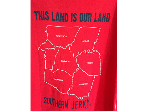 This Land Is Our Land T-Shirt (Women's V-Neck)