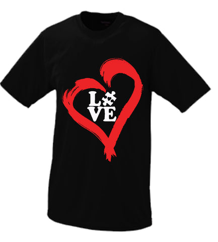 Autistic Heart Of Love Tshirt