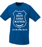 Back The Blue Blue Lives Matter Police Badge Shirt Black, White, Blue All Lives Matter T Shirt