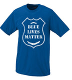 Blue Lives Matter Police Badge Shirt Black, White, Blue All Lives Matter