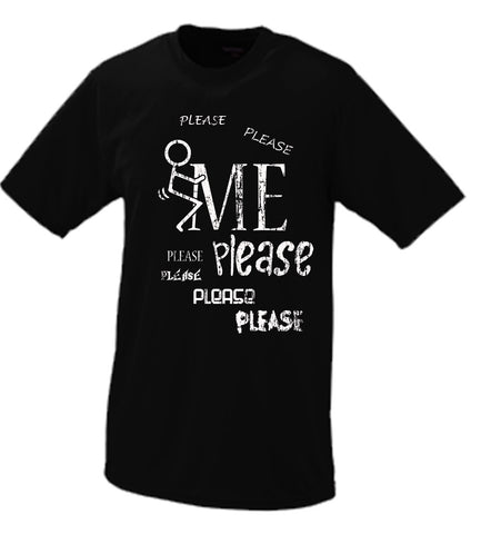F*ck Me Please, Stick Figure Parody T Shirt Comedy Funny