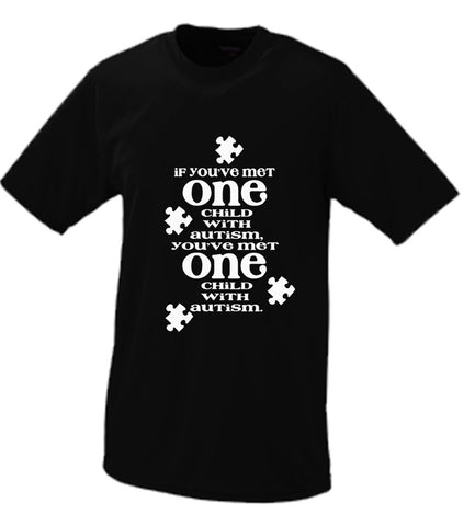 If You've Met One Autistic Child, You've Met One Autistic Child T shirt