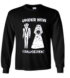 Under New Management Wedding Just Married Tshirt