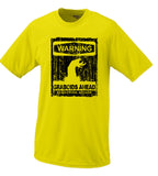 Warning Graboid Ahead T shirt Tremors Parody