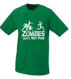 Zombies Hate Fast Food, Parody Comedy Funny T Shirt