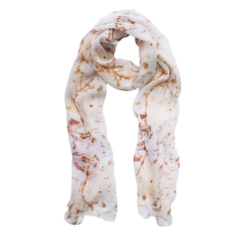 Guillemot Neutral Silk Scarf