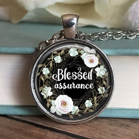 Blessed Assurance Floral Necklace