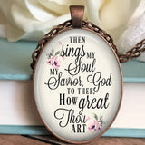 How great Thou art Floral Necklace