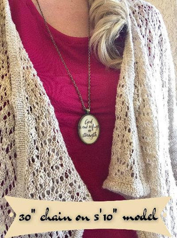 God is our Refuge and Strength Necklace