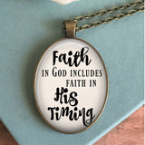 Faith in God's Timing Necklace
