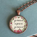 Grace upon Grace Floral Necklace