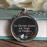 In Christ Alone Floral Necklace