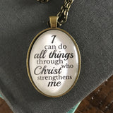 I can do all things through Christ Necklace