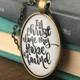 In Christ Alone Simple Necklace