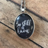 Be Still and Know Simple Necklace