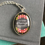 Count your Blessings Floral Necklace