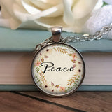 Peace Floral Necklace