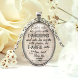 Thanksgiving Psalm 100:4 Necklace