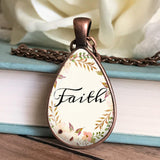 Faith Floral Necklace