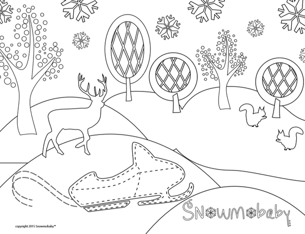 Snowmobaby Coloring Page - In the Forest