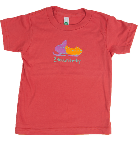 Classic Snowmobaby Organic Toddler Tee - Pomegranate Pink