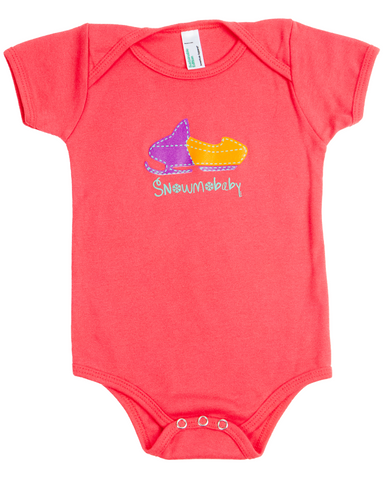 Classic Snowmobaby Organic Infant Onesie - Pomegranate Pink