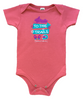 To the Trails Organic Infant Onesie - Coral Pink