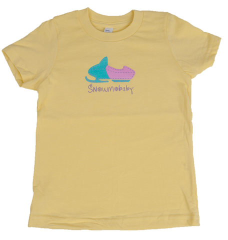 Classic Snowmobaby Toddler Tee - Lemon Yellow