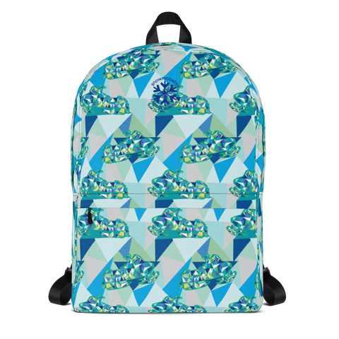 Kid's Backpack - Blue Rad Sled print