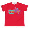 Kid's BRAAAP Sled Tee - Electric Coral Pink