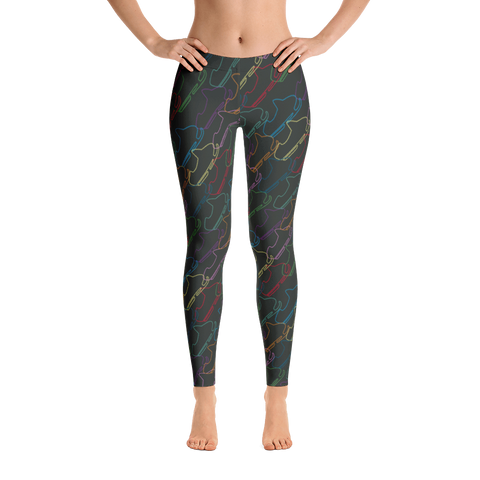 Snowmobile Mom - Sled Neon Leggings