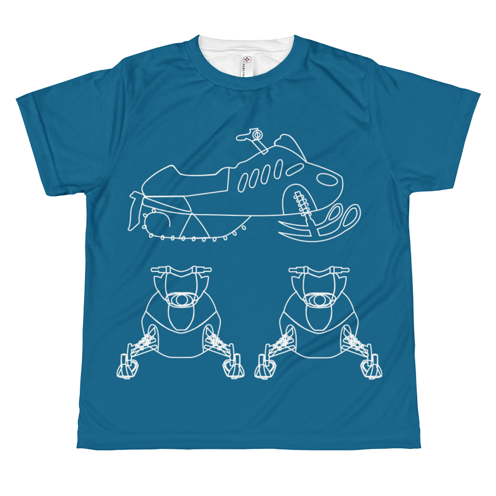 Kid's BRAAAP Sled Tee - Galaxy Blue