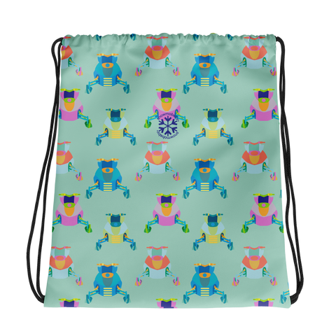 Drawstring bag - Snowmobile print