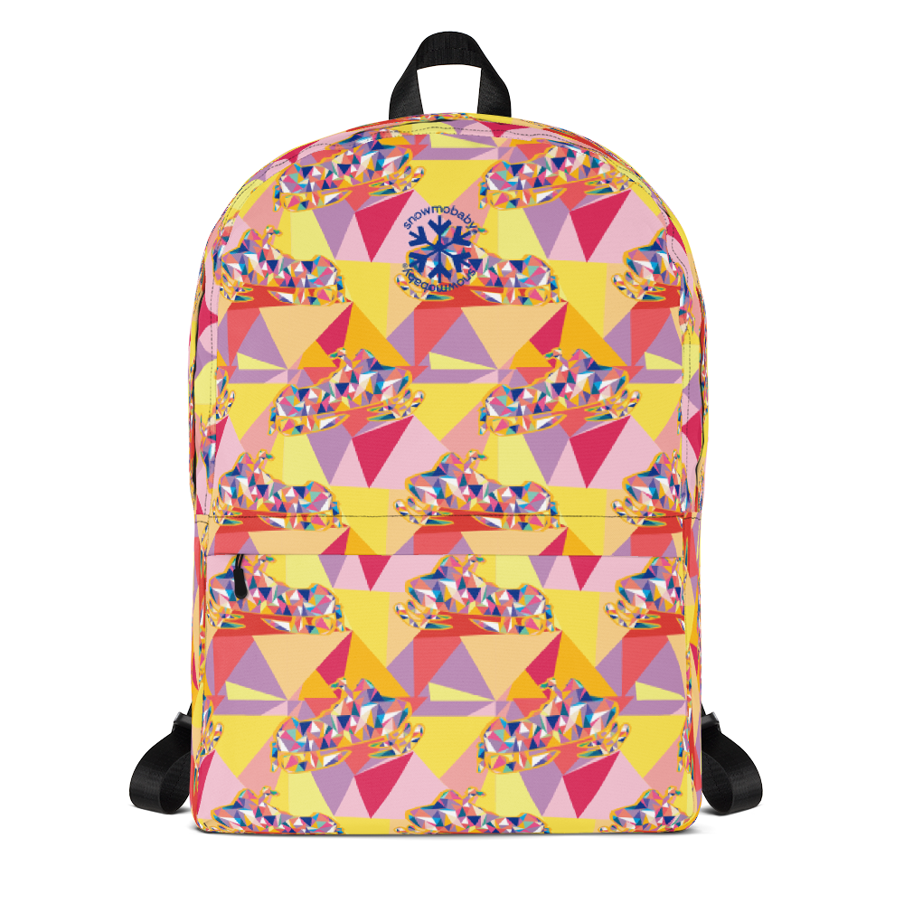 Kid's Backpack - Pink Rad Sled print