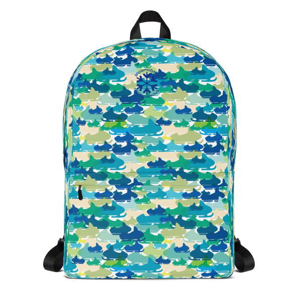 Kid's Backpack - Blue Camo Sled print