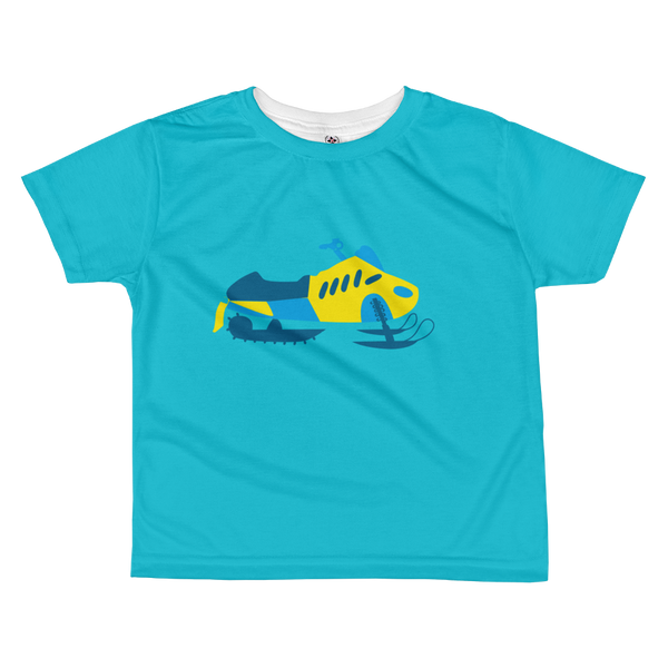 Toddler VROOM Sled Tee - Blue