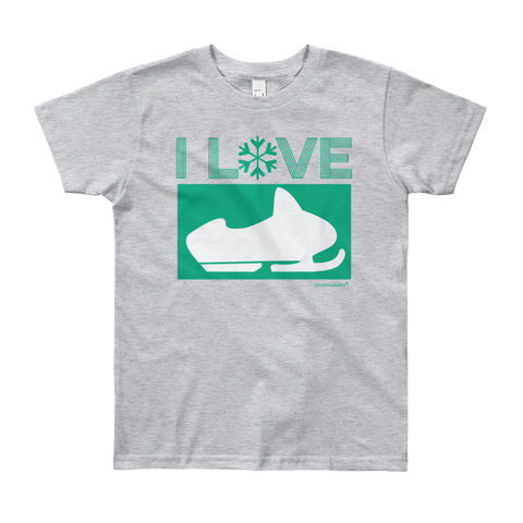 Kid's I Love Sledding Tee