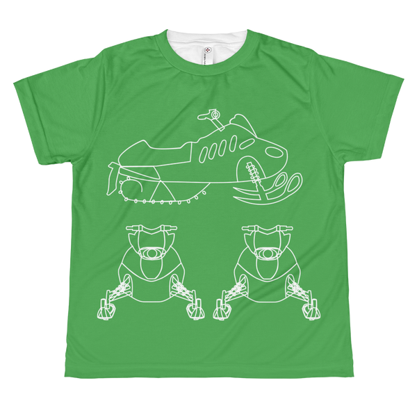 Kid's BRAAAP Sled Tee - Grass Green