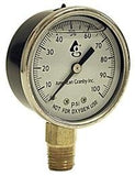 "Water Well Pump Liquid Filled Side Lower Mount Pressure Gauge 0 to 100 PSI, 1/4"" MNPT"