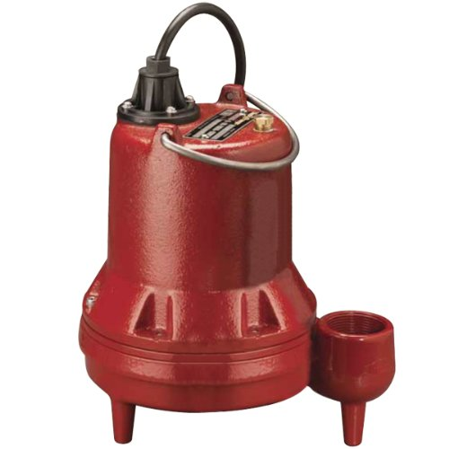 "Liberty Pumps - LE41M - 4/10 HP 115V 2"" Solids Sewage, Manual NO FLOAT"