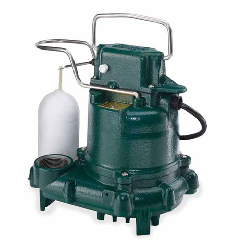 Zoeller Model M57 Mighty-Mate Automatic Cast Iron Effluent Pump - 115 V, 0.3 HP