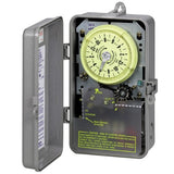 Intermatic R8816P101C Timer, 240V 3Hp Dpst Sprinkler & Irrigation Mechanical Timer W/14-Day Skipper