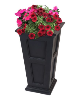 "Mayne - Fairfield 28"" Tall Planter - Black"