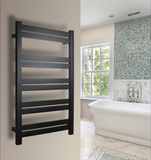 WarmlyYours - Grande 10 Towel Warmer, Black, Hardwired, 10 Bars
