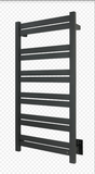 WarmlyYours - Grande 12 Towel Warmer, Black, Hardwired, 12 bars