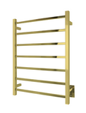 Tahoe 7 Towel Warmer, Gold, Hardwired, 7 bars