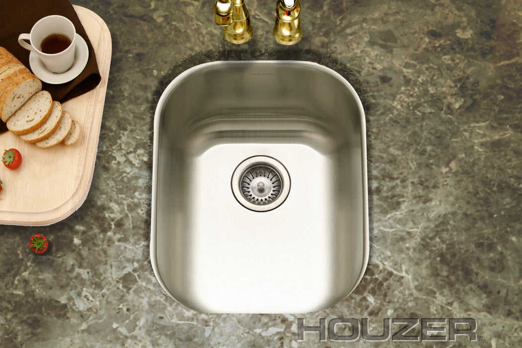 Houzer - Houzer CS-1607-1 Club Series Undermount Large Bowl Bar/Prep Sink -  - Bar Sink - Undermount  - Big Frog Supply - 2