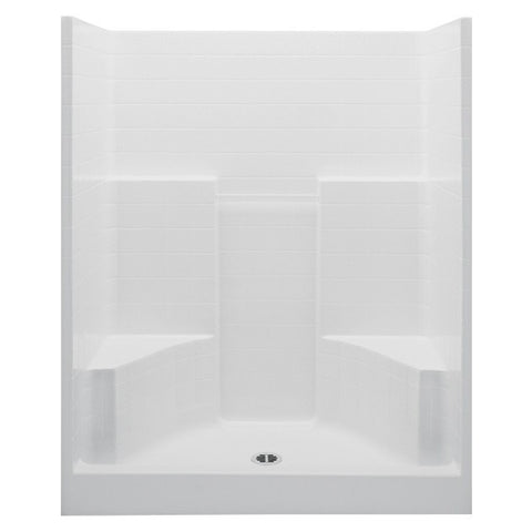 "Aquatic - 60"" Tile 2 Seat Shower -  - Bath  - Big Frog Supply"