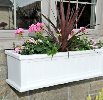 Mayne - Cape Cod 3' Window Box - White
